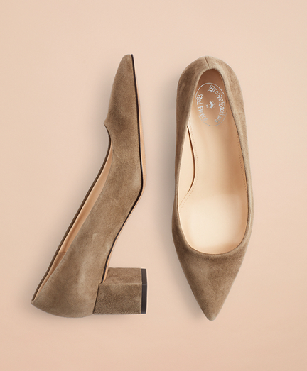 Point-Toe Block-Heel Pumps
