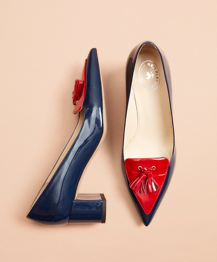 Patent Leather Loafer Pumps