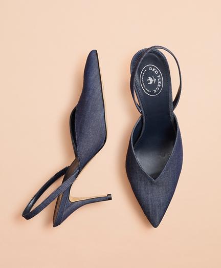 Denim Sling-Back High Heels