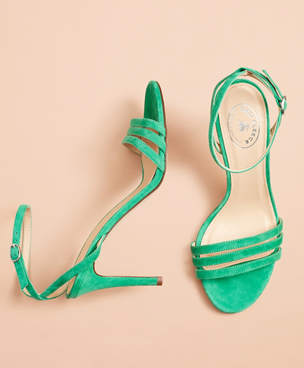 Suede Stiletto Sandals