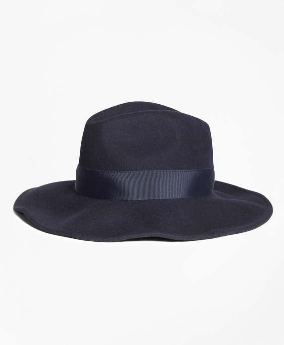 Felted Wool Fedora Navy