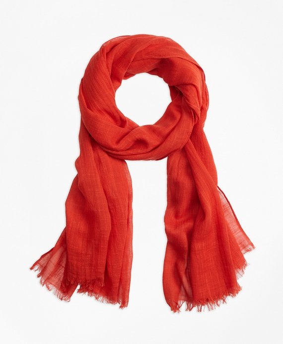 Cotton Oblong Scarf Red