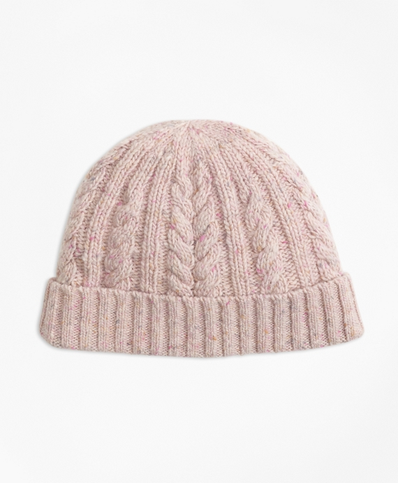 Cable-Knit Alpaca-Wool-Blend Hat Pink