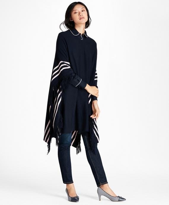 BB#1 Striped Wool Poncho