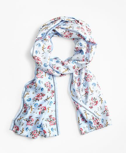 Floral-Print Silk-Blend Scarf