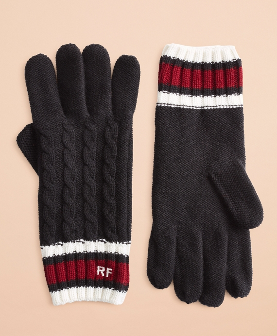 Two Pairs Mongolian Fleece Gloves One with Customer Chosen Monogram