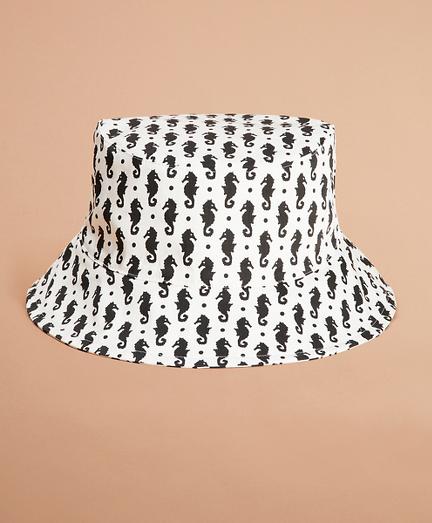 Seahorse-Print Bucket Hat