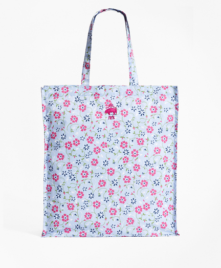 Floral-Print Nylon Tote Bag