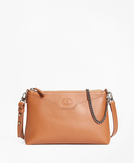 Leather Double-Strap Convertible Cross-Body Bag