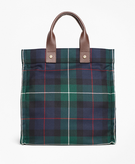 Black Watch Plaid Wool Tote Bag