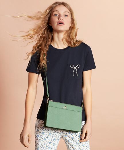 Saffiano Leather Cross-Body Bag