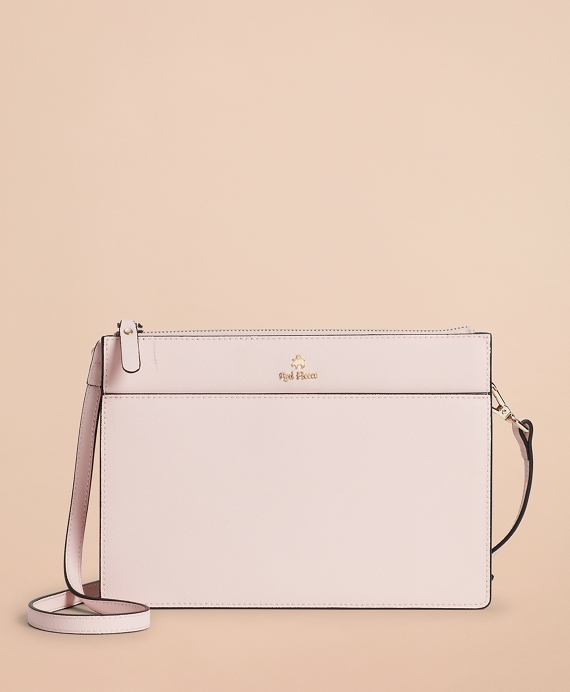 Saffiano Leather Cross-Body Bag Pink