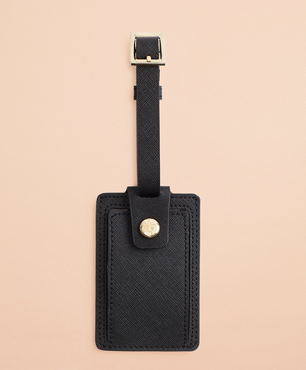 Saffiano Leather Luggage Tag