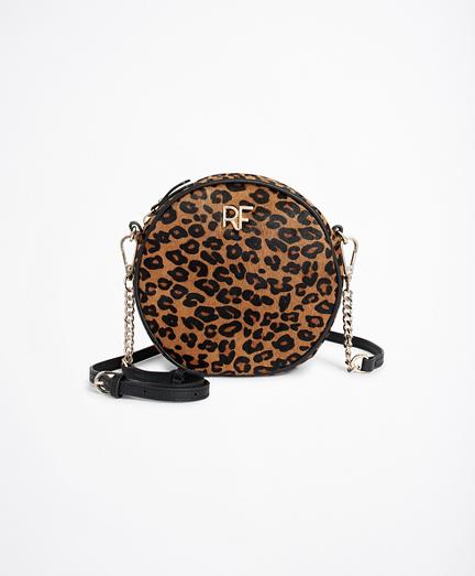 Leopard-Print Faux Pony Hair Circle Purse