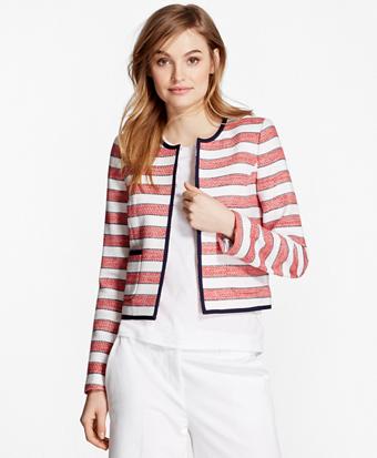 Striped Boucle Jacket