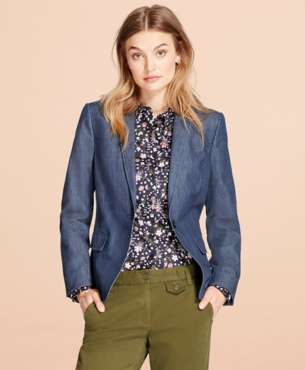 Stretch Denim Blazer