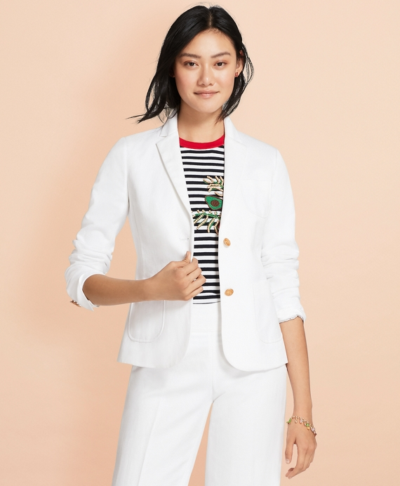 Linen-Cotton Jacket White