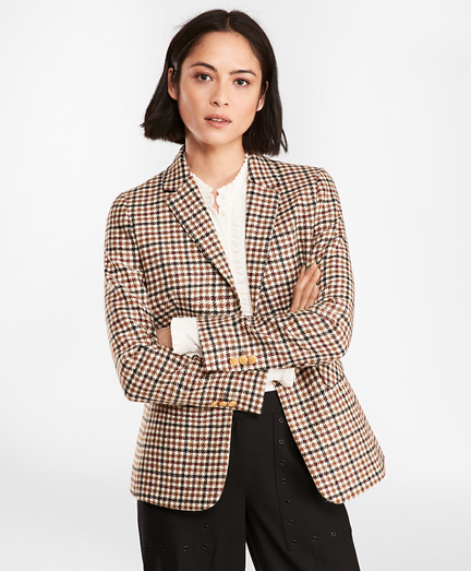 Checked Wool Twill Jacket