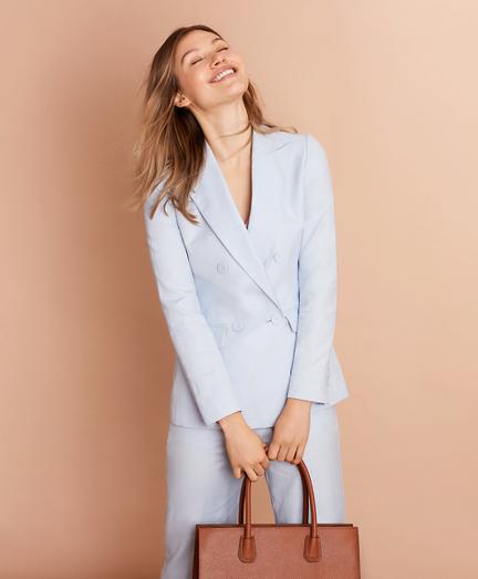 Irish Linen-Cotton Double-Breasted Jacket