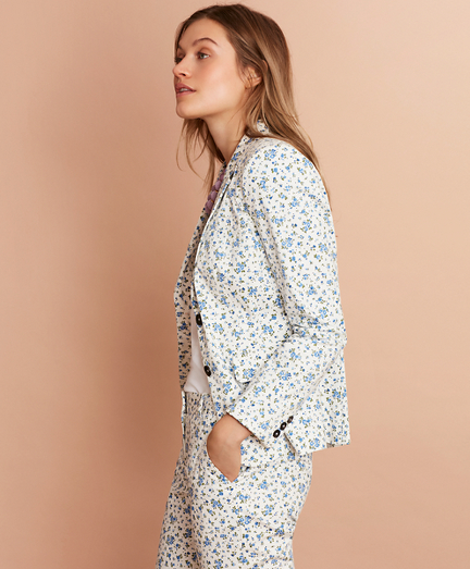 Floral-Print Stretch-Cotton Sateen Jacket
