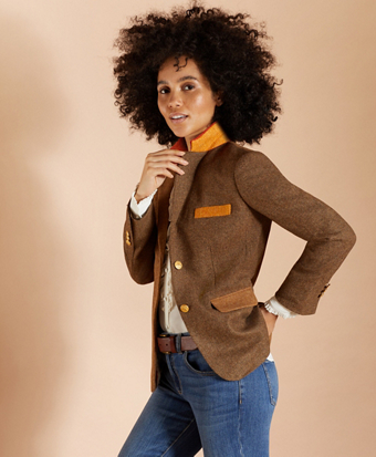 Patchwork Wool Twill Jacket