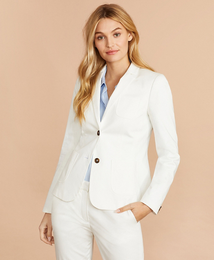 Stretch Cotton Sateen Jacket