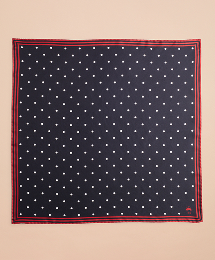 Polka-Dot Silk Square Scarf