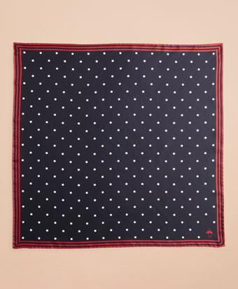 Polka-Dot Silk Square Scarf