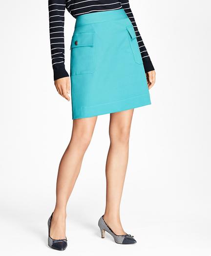 Double-Faced Cotton-Blend Skirt