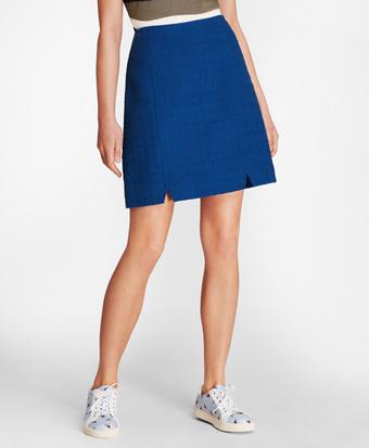 Cotton Boucle A-Line Skirt