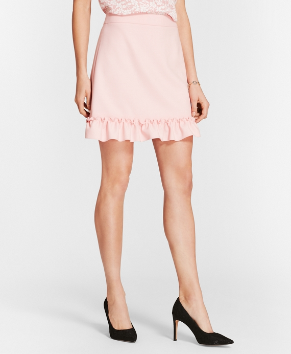 Ruffle-Hem Skirt Light Pink