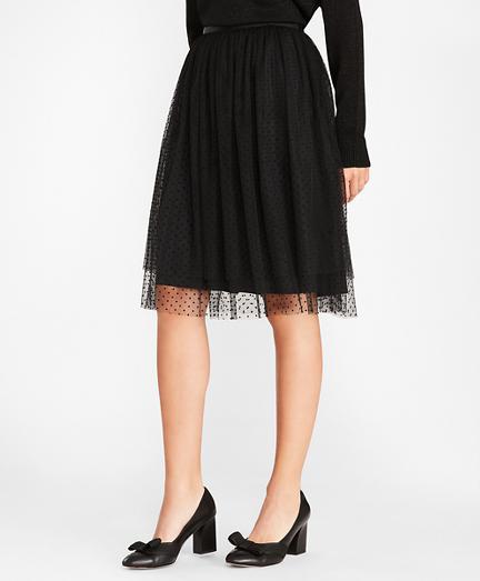 Polka-Dot Tulle Skirt