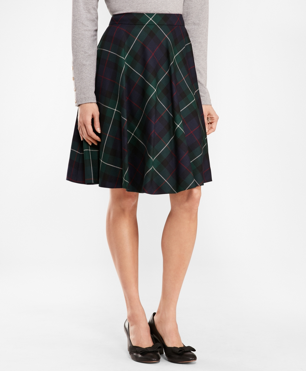 1940s Clothing Brooks Brothers Womens Tartan Wool Twill Circle Skirt $64.00 AT vintagedancer.com