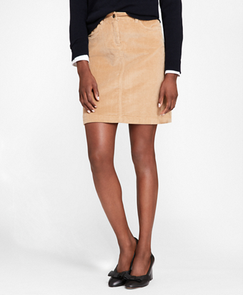 Stretch-Cotton Corduroy Skirt
