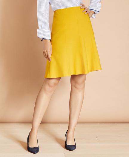 Wool-Blend Trumpet Skirt