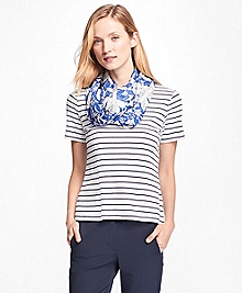 Cotton Ribbed Stripe T-Shirt