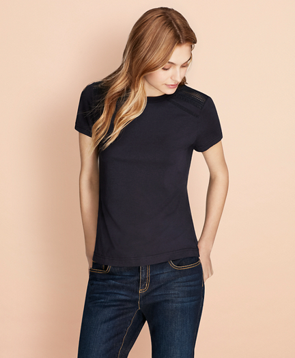 Lace-Trimmed T-Shirt