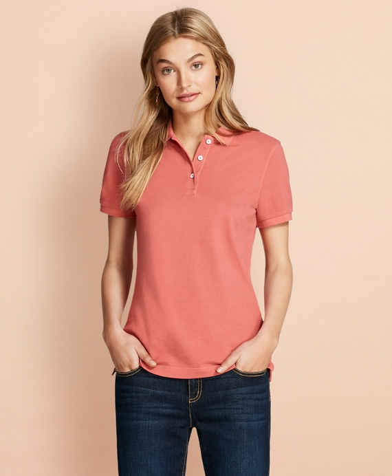Garment-Dyed Pique Polo Rose