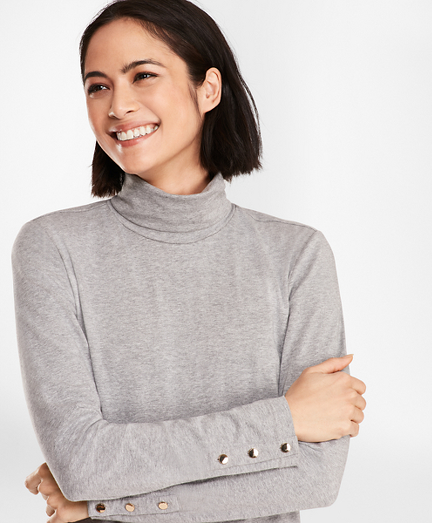 Long-Sleeve Turtleneck T-Shirt