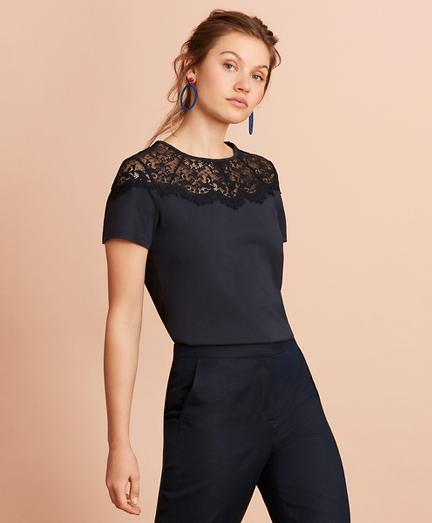 Lace-Yoke T-Shirt