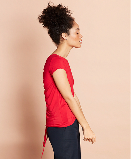Ruched-Back Jersey Top