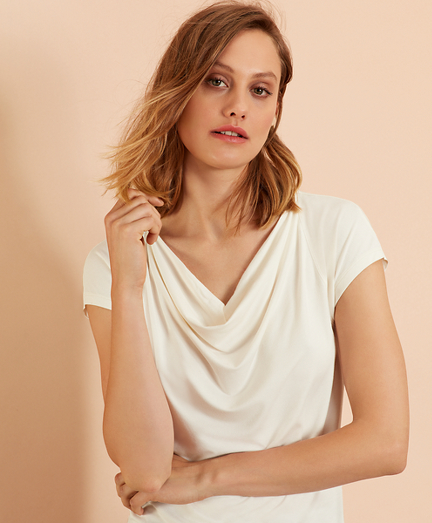 Cowl-Neck T-Shirt