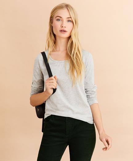 Scoopneck Long-Sleeve T-Shirt