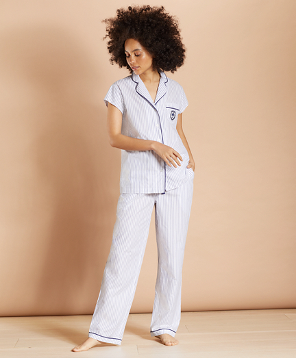 Striped Supima® Cotton Poplin Pajamas