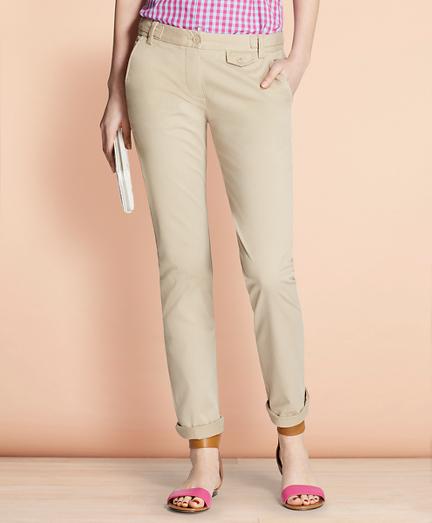 Stretch-Cotton Twill Pants