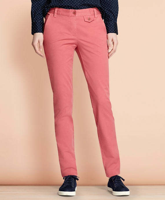 Stretch-Cotton Twill Pants Rose