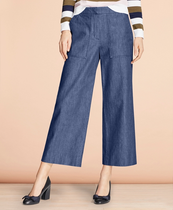 Denim Culottes Blue