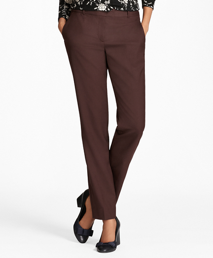 Straight-Leg Stretch-Wool Pants