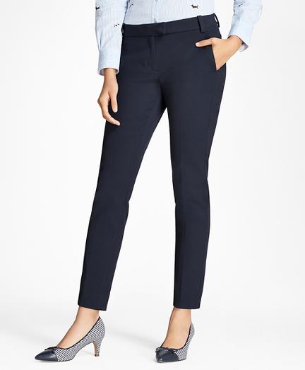 Slim-Fit Stretch Cotton-Blend Pants