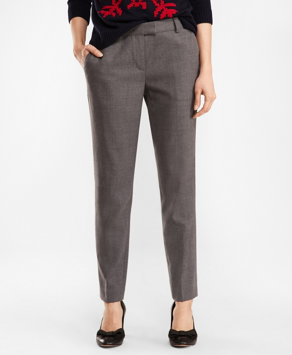 Tapered Stretch Wool Blend Pants by Brooks Brothers